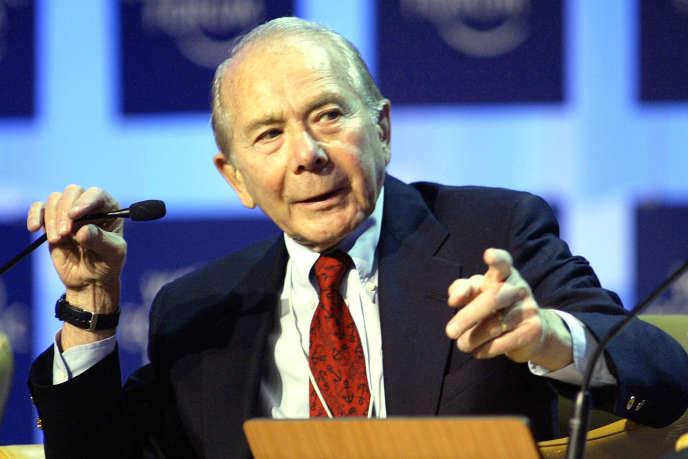 Maurice Greenberg, ancien PDG de l'assureur américain AIG.
