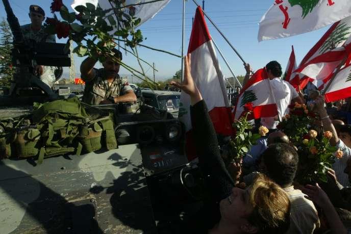 Après trois décennies, l'occupation syrienne au Liban prend fin officiellement le 26 avril 2005.