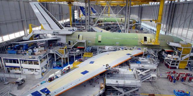 L'assemblage de l'Airbus A380 à Toulouse.