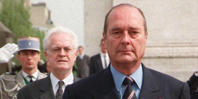 Le président Jacques Chirac et le premier ministre Lionel Jospin, le 8 mai 1998.