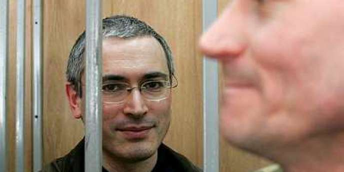 Mikhaïl Khodorkovski lors de son procès.