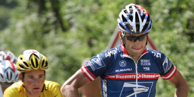 Lance Armstrong lors du Tour de France 2004.