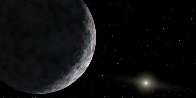 Dessin de la NASA représentant l'une des planètes situées aux confins de notre système solaire.