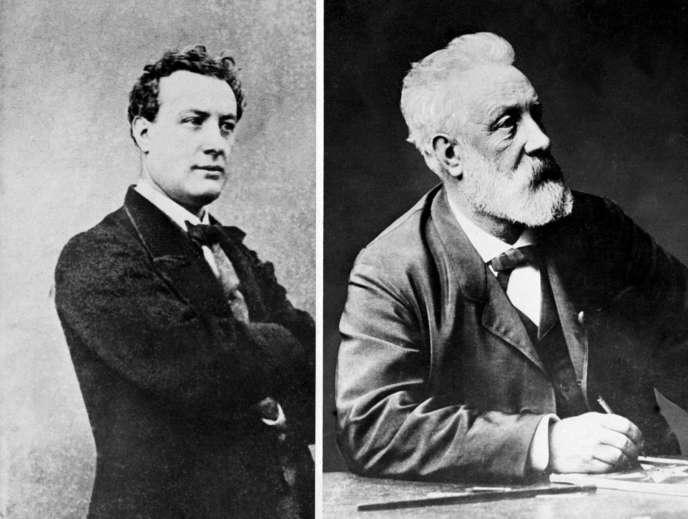 Jules Vernes pendant sa jeunesse et peu de temps avant sa mort