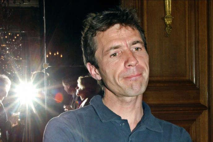 Luc Delahaye, lors de la remise du prix Niepce à Paris, le 17 mai 2002.
