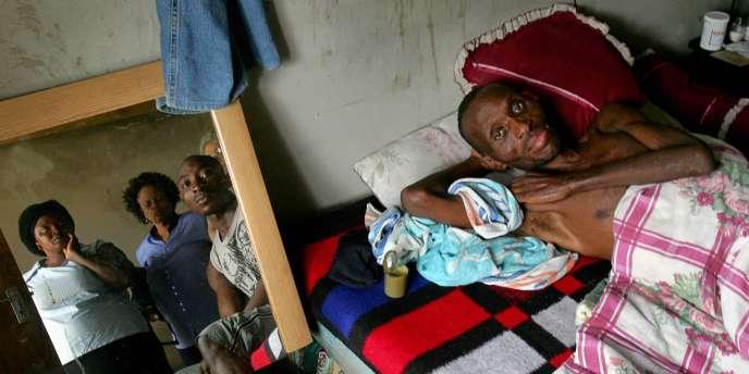 Un malade atteint du sida, en Afrique du Sud.