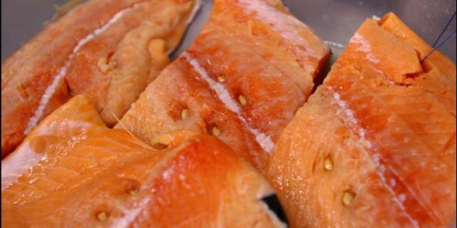 Darnes de saumon.