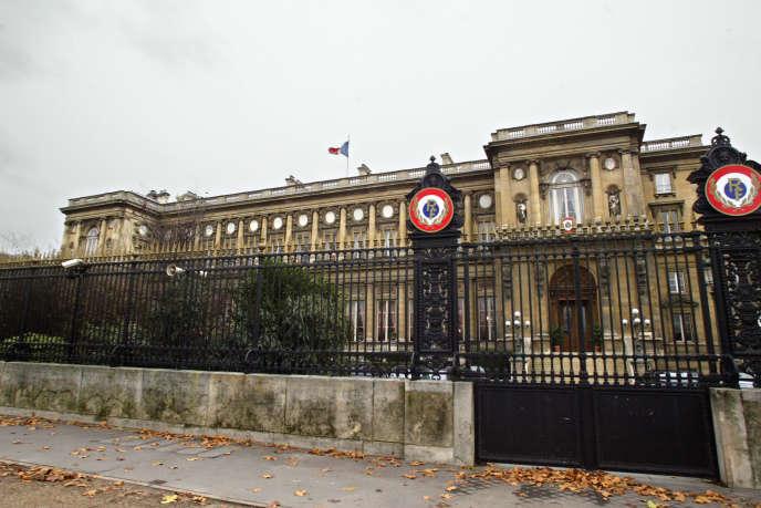 Le ministère des affaires étrangères, quai d'Orsay, à Paris.