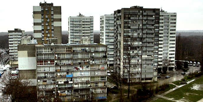 Ensemble d'immeubles d'habitation à Clichy-sous-Bois (Seine-Saint-Denis).