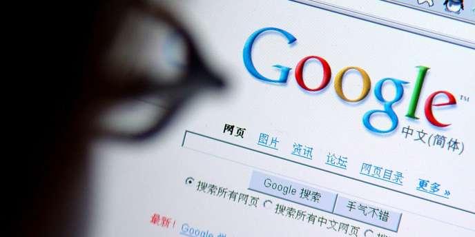 Page d'accueil du moteur de recherche Google en Chine.