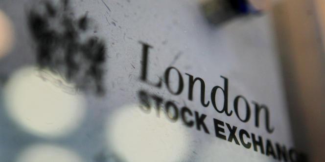 Le logo de la Bourse de Londres.