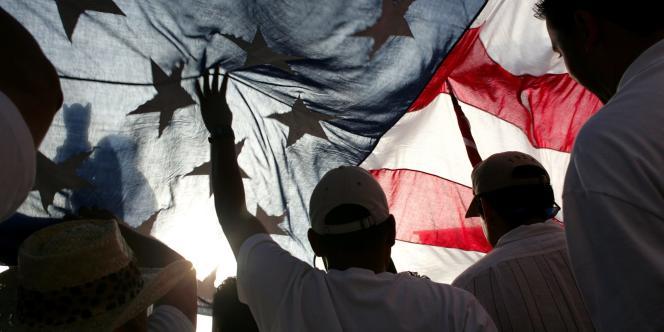 Manifestation pour une réforme du système d'immigration aux Etats-Unis en 2006.