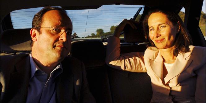 François Hollande et Ségolène Royal sur la route de la Fête de la rose d'Uzerche en octobre 2005.