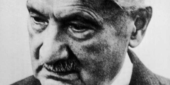 Le philosophe allemand Martin Heidegger (1889-1976).