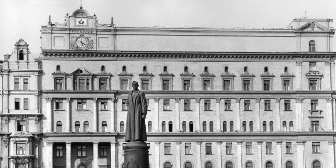 Le siège du KGB à Moscou. Photo datée de 1981.