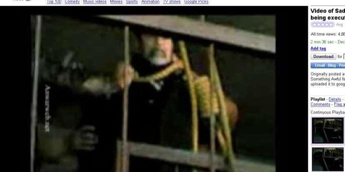 Des gardes avaient pris des images au téléphone portable de l'exécution de Saddam Hussein.