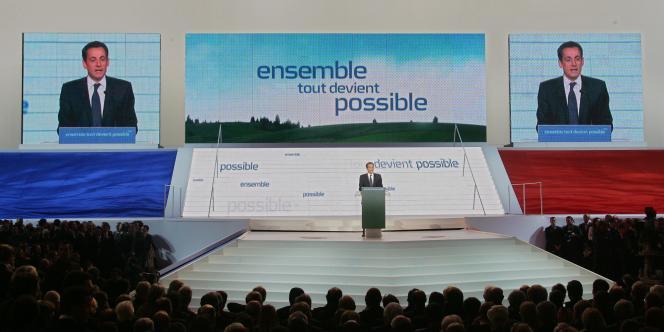Nicolas Sarkozy, au congrès d'investiture de l'UMP,  le 14 janvier 2007.