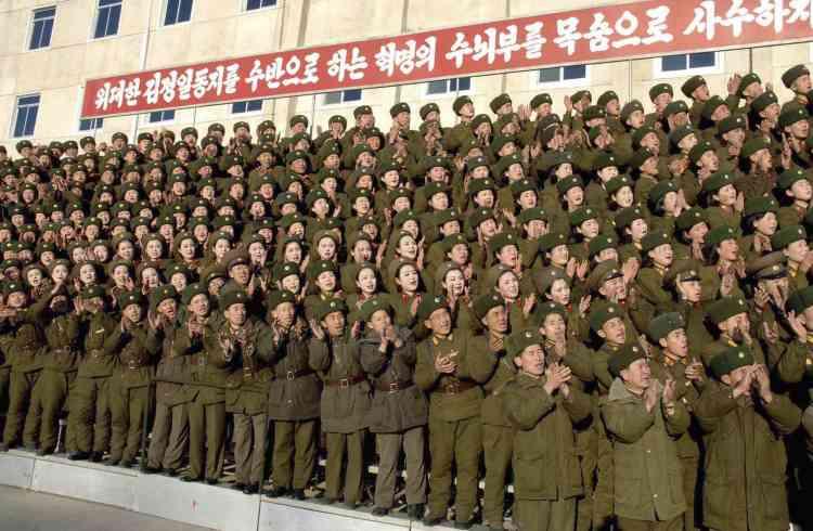 Des soldats de l'armée populaire de Corée du Nord.