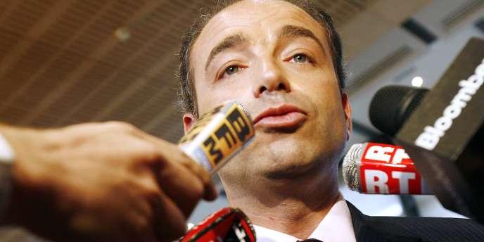 Jean-François Copé, lors d'une conférence de presse, le 18 janvier 2007.