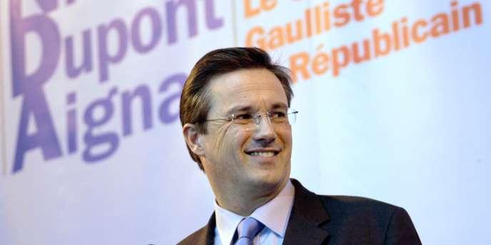 Nicolas Dupont-Aignan, le 28 janvier 2007, à Paris.
