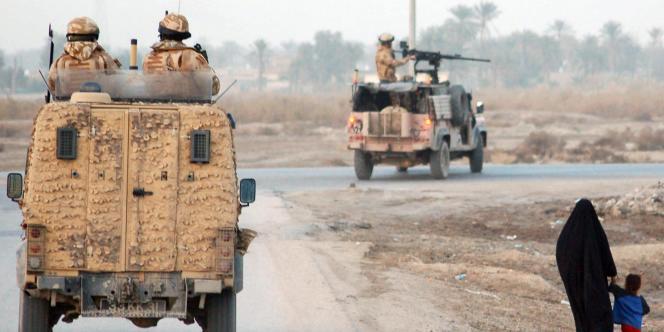 Soldats britanniques déployés près de Bassora, en Irak.
