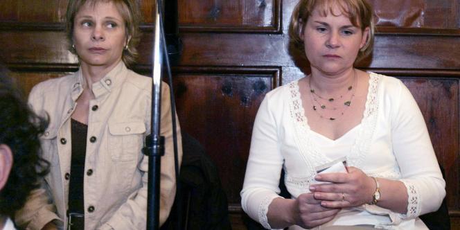 Chantal Chanel et Laurence Tramois, le 15 mars 2007.