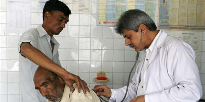 Un patient atteint de tuberculose en Inde en mars 2007.