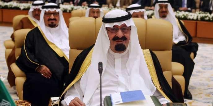L'idée d'une union a été lancée en décembre par le roi Abdallah d'Arabie saoudite (ici lors de la cérémonie d'ouverture d'un sommet à Riyad le 28 mars 2007).