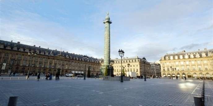 La place Vendôme à Paris.