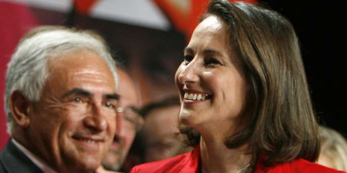 Ségolène Royal et Dominique Strauss-Kahn, en meeting à Lille, jeudi 3 mai 2007.