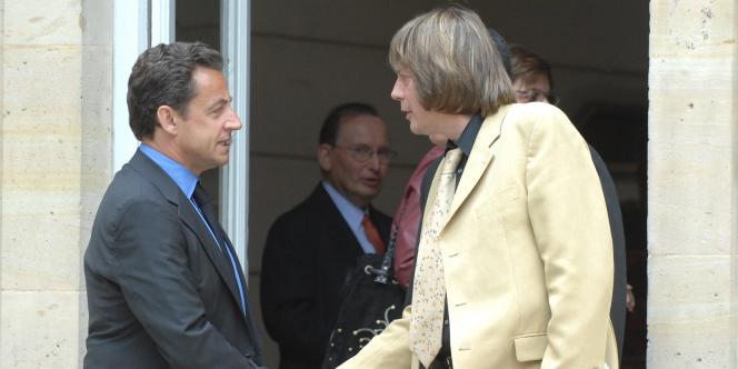 Nicolas Sarkozy et Bernard Thibault, de la CGT, le 14 mai 2007.