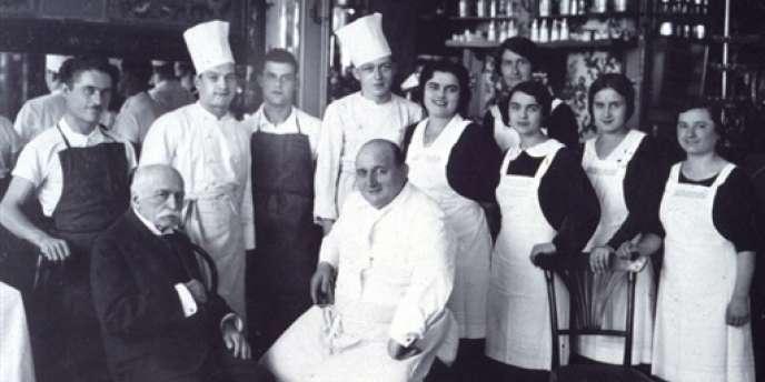 Gaël Orieux a choisi le nom de son restaurant en hommage à George Auguste Escoffier (ici en 1930), le mal-aimé de la nouvelle cuisine des années 1970.