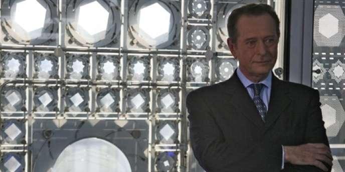 Dominique Baudis, à Paris, alors président de l'Institut du monde arabe, le 2 avril 2007.