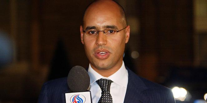 Saif Al-Islam Kadhafi, lors de sa visite en France, en mars 2007.