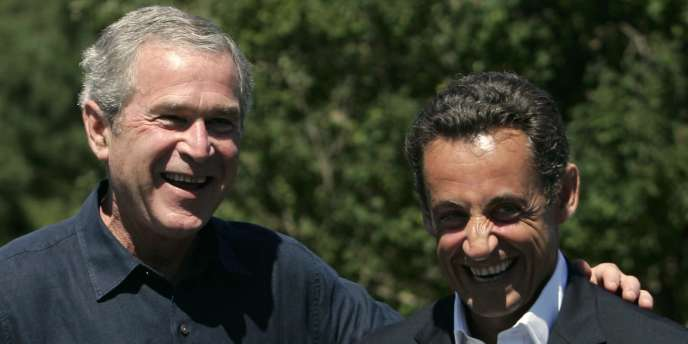 MM. Bush et Sarkozy à Kennebunkport (Maine), le 11 août 2007.