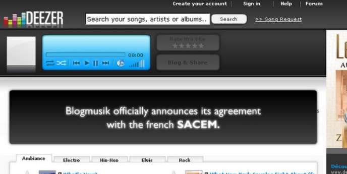 Deezer, premier site de musique en streaming en France.