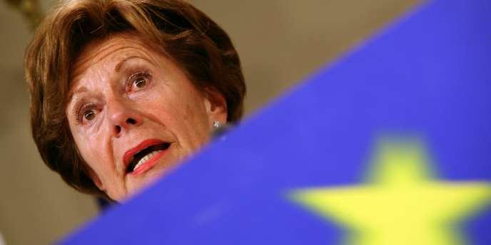 La commissaire européenne Neelie Kroes, chargée du dossier Microsoft.
