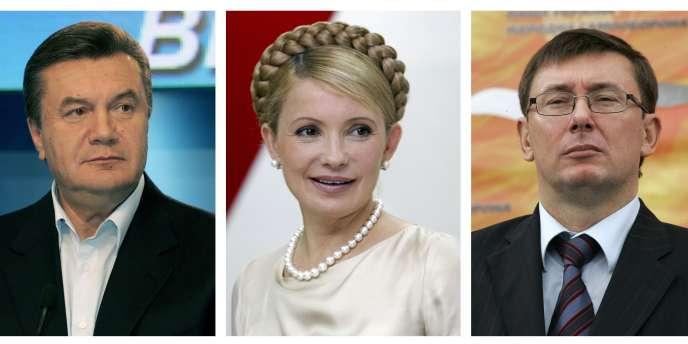 Le président ukrainien Viktor Ianoukovitch, Ioulia Timochenko et Iuri Yuri Lutsenko
