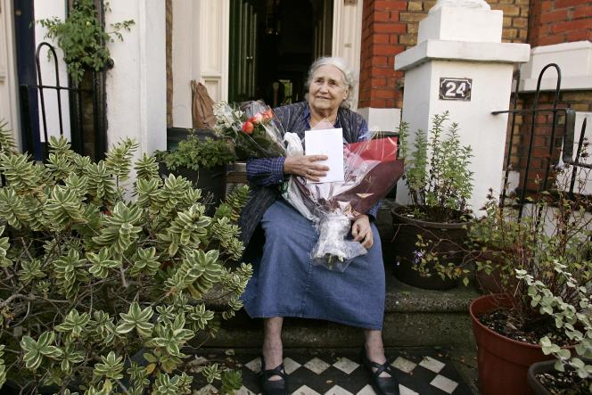 L'écrivaine britannique, Doris Lessing, à l'annonce de l'obtention du prix Nobel de littérature, le 11 octobre 2007.