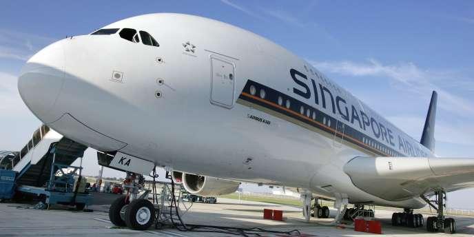 Un Airbus A 380 de la compagnie Singapore Airlines.