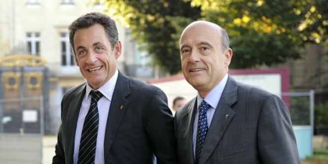 Nicolas Sarkozy et Alain Juppé le 16 octobre 2007, à Bordeaux.