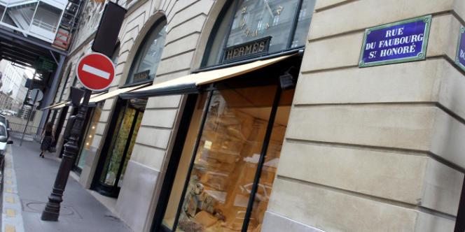 La maison mère d'Hermès, rue du Faubourg Saint-Honoré, à Paris.
