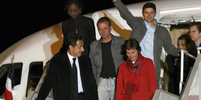 Marie-Agnes Peleran à son arrivée sur le tarmac de l'aéroport de Villacoublay, le 4 novembre 2007.