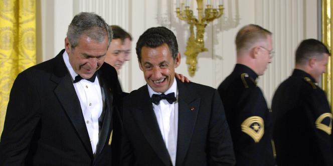 George Bush et Nicolas Sarkozy, mardi 6 novembre 2007 à la Maison Blanche.