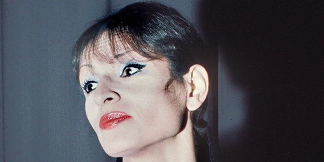 La chanteuse Barbara à Paris, le 13 février 1971.