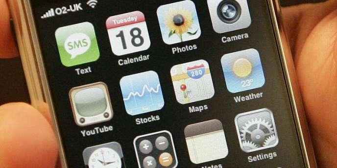 Des applications sur un iPhone d'Apple.