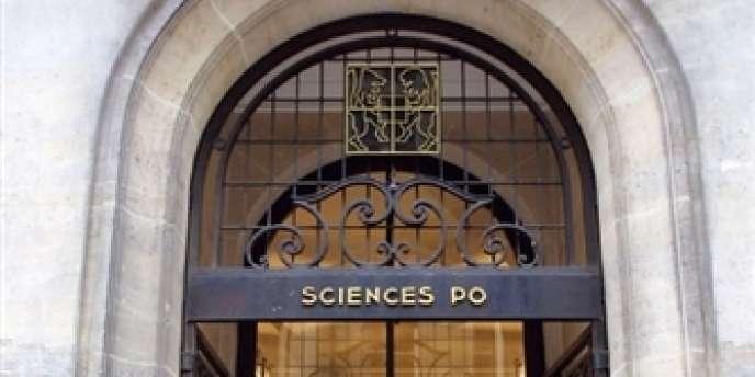 L'entrée de l'Institut d'études politiques (IEP) de Paris.