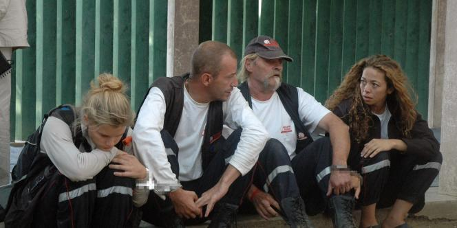 De gauche à droite : Emilie Lelouch, Eric Breteau, le président de l'association française, Alain Péligat et Nadia Merimi.