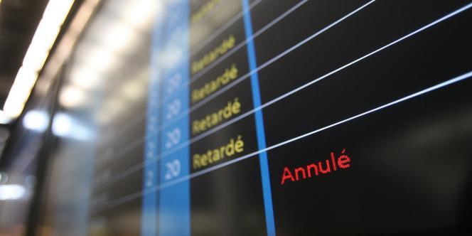Le retard ferroviaire tourne autour de la demi-heure en moyenne mensuelle contre 37 à 39 minutes pour les liaisons aériennes.
