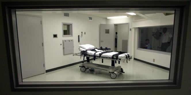 La chambre d'exécution par injection de la prison Holman à Atmore, dans l'Alabama, en octobre 2002.